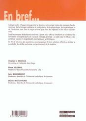 Biologie - 4ème de couverture - Format classique