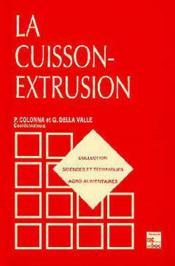 La Cuisson-Extrusion (Collection Staa) - Couverture - Format classique