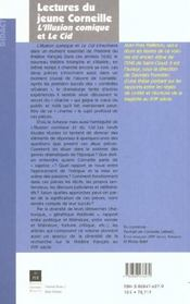 Lectures du jeune corneille - 4ème de couverture - Format classique