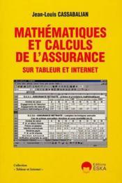 Mathematiques et calculs de l'assurance - Couverture - Format classique