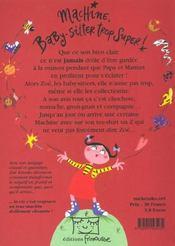 Machine Baby Sitter Trop Super - 4ème de couverture - Format classique