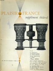 Plaisir De France Supplement Theatral N°336 - Couverture - Format classique