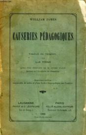 Causeries Pedagogiques - Couverture - Format classique