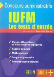 Qcm ; test d'entree a l'iufm – Boursin Jean-Louis – ACHETER OCCASION – 02/03/2004