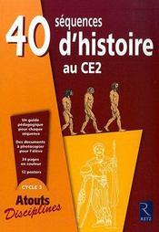 40 séquences d'histoire pour le CE2 ; fichier - Intérieur - Format classique
