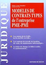 Modeles De Contrat Type De L'Entreprise Pme Pmi - Couverture - Format classique