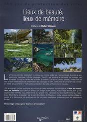Lieux de beauté, lieux de mémoire - 4ème de couverture - Format classique