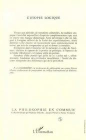 L'Utopie Logique - 4ème de couverture - Format classique