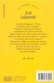 Zoe calamite - 4ème de couverture - Format classique