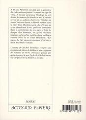 Albertine, en cinq temps - 4ème de couverture - Format classique