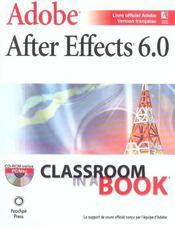 After Effects 6 Ciab - Intérieur - Format classique