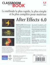 After Effects 6 Ciab - 4ème de couverture - Format classique