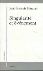 Singularite Et Evenement - Couverture - Format classique