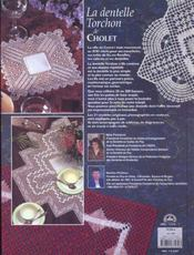La dentelle torchon de Cholet - 4ème de couverture - Format classique