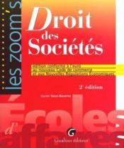 Zoom'S Droit Des Societes Conforme A L'Euro - Couverture - Format classique