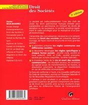 Zoom's droit des societes conforme a l'euro - 4ème de couverture - Format classique