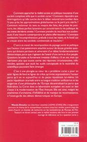 La Corse En Question(S) - 4ème de couverture - Format classique
