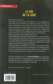 Le roi de la soie - 4ème de couverture - Format classique