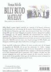 Billy Budd ; matelot - 4ème de couverture - Format classique