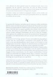 Les Frontieres Dans Un Monde En Mouvement 2e Edition Mise A Jour Et Augmentee - 4ème de couverture - Format classique