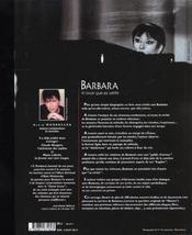 Barbara, toute une vie d'amour - 4ème de couverture - Format classique