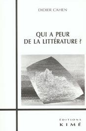 Qui A Peur De La Litterature ? - Intérieur - Format classique