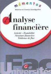 Vente livre :  Memento analyse financiere  - Grandguillot Beatric