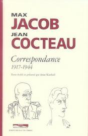 Max jacob - jean cocteau ; correspondance 1917-1944 - Intérieur - Format classique