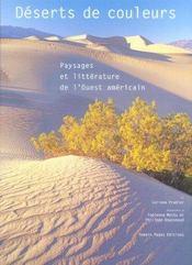 Deserts de couleurs paysages et litterature de l'ouest - Intérieur - Format classique