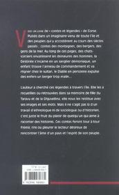 Contes Et Legendes Du Peuple Corse Tome 1 - 4ème de couverture - Format classique