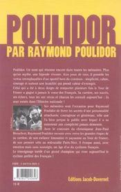 Poulidor par raymond poulidor - 4ème de couverture - Format classique