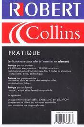 Robert et collins pratique allemand - 4ème de couverture - Format classique