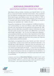 Aldo Ajello Cavalier De La Paix - 4ème de couverture - Format classique