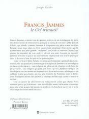 Francis Jammes et le génie du catholicisme - 4ème de couverture - Format classique