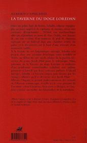 La taverne du doge loredan - 4ème de couverture - Format classique