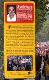 De l'électricité dans le gaz ! trente-cinq ans de militantisme syndical à edf-gdf - 4ème de couverture - Format classique
