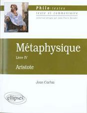 Metaphysique Livre Iv Aristote - Intérieur - Format classique