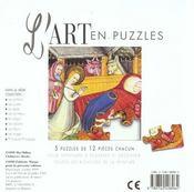 Art En Puzzle Noel - 4ème de couverture - Format classique