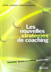 Les Nouvelles Strategies De Coaching Comment Devenir Un Meilleur Gestionnaire - Intérieur - Format classique