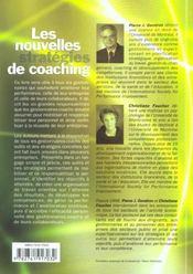 Les Nouvelles Strategies De Coaching Comment Devenir Un Meilleur Gestionnaire - 4ème de couverture - Format classique