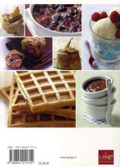 Vos desserts préférés, sans lait ni gluten - 4ème de couverture - Format classique