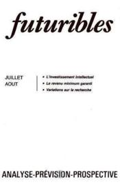 Futuribles N.101 Juillet Aout 1986 - Couverture - Format classique