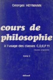 Cours de philo cdef11 t.2 - Couverture - Format classique