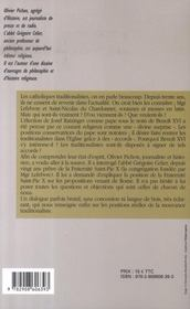 Benoit Xvi Et Les Traditionalistes - 4ème de couverture - Format classique