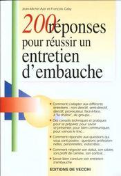 200 Reponses Pour Un Entretien D'Embauche - Intérieur - Format classique