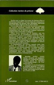 Une Histoire Des Famines Au Sahel - 4ème de couverture - Format classique