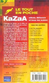 Kazaa - 4ème de couverture - Format classique