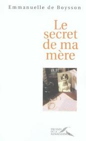 Le Secret De Ma Mere - Intérieur - Format classique