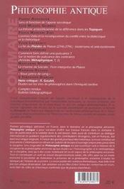 Revue Philosophie Antique N.3 ; Enjeux De La Dialectique - 4ème de couverture - Format classique