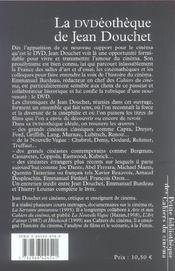 Dvdeotheque De Jean Douchet (La) - 4ème de couverture - Format classique